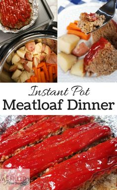 Meatloaf is one of those meals that most everyone loves and everyone has the best recipe, right?! So I set out to bring you an instant pot meatloaf dinner!