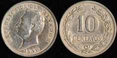 #ElSalvador 10 Centavos, 1940. Check it out and more World Coins at meridiancoin.com, see what's selling on our eBay, or come by our store in #Torrance CA. #coin #money #collecting #numismatic #numismatist