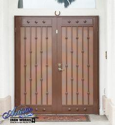 Wrought Iron Security Screen Double Doors - Model: Knox FD0207