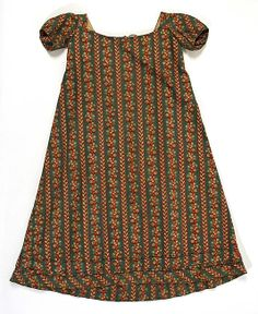 Early 19th Century Child's Dress, cotton, American