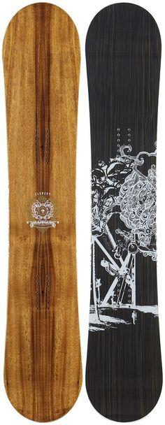 #LL #Snowboarding  snowboard - Love the wood grain look!