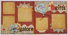 Gifts Galore 2-page scrapbooking layout www.kiwilane.com