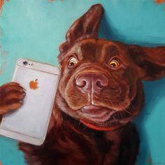 Wrought Studio Balbo Dog Selfie Removable Wall Decal Size: H x W x D Wrought Studio Balbo Hund Selfie abnehmbare Wandtattoo Größe: 14 & # & # H x 14 & # & # W x & # & # D Selfies, Painting Prints, Canvas Prints, Art Prints, Canvas Artwork, Art Paintings, Watercolor Painting, Framed Prints, Dog Selfie