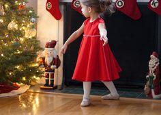 twirly red christmas dress