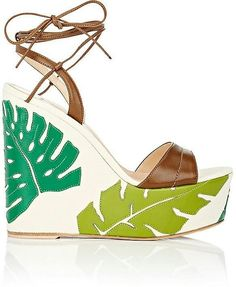 Look great  in this Beautiful Leather  wedge sandals