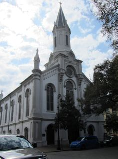 Lutheran Church of the Ascension (1879) - 120 Bull St. - The congregation was formed in 1741 by Protestant exiles from Salzburg. The site was purchased in 1771, the fist brick church, built in 1844, was destroyed during the Civil War.