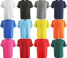 Herren -Damen T-Shirt Polyester -Rundhals-Grössen -Farben Weiß-Schwarz Wählbar