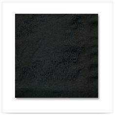 Black Irish Linen Dinner Napkin 2 Ply 1/4 Fold/Case of 500