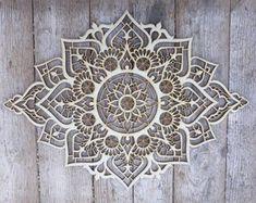 Mandala Indio, Mandala Yoga, Simple Mandala, Mandala Canvas, Wall Decor Set, Wood Wall Decor, Art Decor, Ethnic Decor, Bohemian Decor