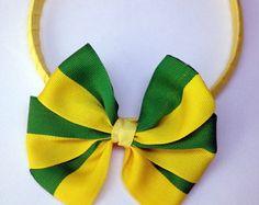 Tiara Laço Verde Amarelo BRASIL