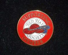 Supporting Member Red Hat Society Pin
