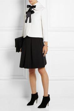 Alexander McQueen Bow-embellished wool-crepe jacket NET-A-PORTER.COM