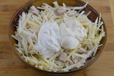 Salata de pui cu telina - CAIETUL CU RETETE Coconut Flakes, Spices, Food, Pineapple, Spice, Essen, Meals, Yemek, Eten