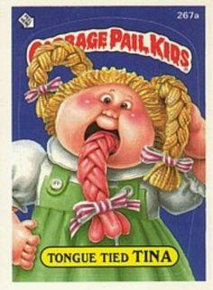 b563ab5503d garbage pail kids Tongue Tied Tina Garbage Pail Kids Cards
