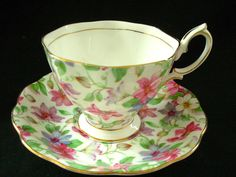 Super Royal Albert Tea Cup and Saucer Summer Glory Floral Chintz Pattern