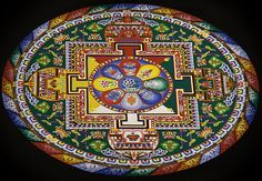 Tibetan Mandala Sand Painting | This is all done with sand. … | Flickr