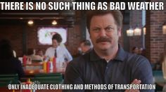 Does Not Stop Ron Swanson