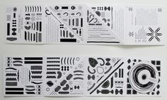 The Geometry of Pasta Promotional booklet by Liam O'Leary, via Behance