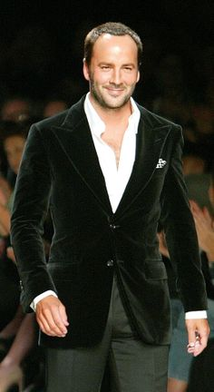 Tom Ford wearing Tom Ford. Impeccable, refined and smart styling.