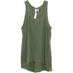 Wilt Shrunken Boyfriend Tank in Army Green found on Polyvore