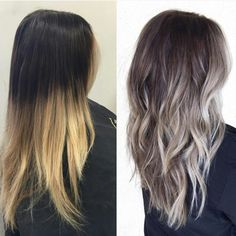 Fashionable Balayage Hair Color Ideas For Brunettes - Beauty Tips Cabelo Ombre Hair, Grey Ombre Hair, Brown To Grey Ombre, Balayage Hair Brunette Medium, Dark Ombre, Silver Ombre, Blue Hair, Pinterest Hair, Hair Color Balayage