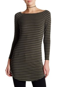 Poof | Stripe Long Sleeve Tunic | Nordstrom Rack