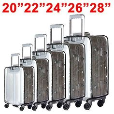"BlueCosto (Clear PVC) Travel Luggage Protector Suitcase Covers 20""22""24""26""28"" *** Want to know more, click on the image. Amazon Affiliate Program's Ads."