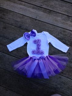 First Birthday Tutu Outfit, Lavender Rosette Birthday Outfit, Smash Cake Outift, 1st Birthday, 2nd Birthday on Etsy, $41.99