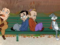 BUGS BUNNY with friends Jack Benny, Eddie Cantor, and Bing Crosby Old School Cartoons, Old Cartoons, Classic Cartoons, Animated Cartoons, Cartoon Tv, Vintage Cartoon, Cartoon Characters, Bugs Bunny, Jack Benny