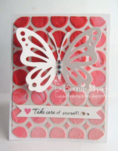 The Lucky Clucker: Backgrounds with Embossing Paste - MIM