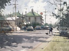 Recent Paintings by Joseph Zbukvic - josephzbukvic Watercolor Landscape Paintings, Watercolor Sketch, Watercolor Illustration, Oil Paintings, Hippo Drawing, Joseph Zbukvic, Composition Painting, Contemporary Landscape, Contemporary Decor
