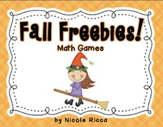 Fall Freebies Math Games (from Mrs. Ricca's Kindergarten)