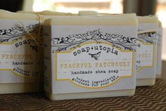 Image of PEACEFUL PATCHOULI - Handmade Shea Soap - 4 oz. - all natural cold processed  From Oakville Ontario