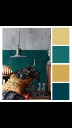 Sélection H&M Home - bleu canard - POM & GUS - julia. Bedroom Color Schemes, Bedroom Colors, Colour Schemes, Colour Palettes, Pantone, Wall Colors, House Colors, Interior Paint Colors, Interior Design