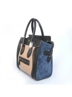 Celine Luggage Small Handbag Multicolour Black Blue Cream | My ...