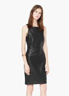Leather dress | MANGO