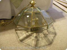 Epic Room Makeover: Caged Basket Chandelier. WHAT ELSE CAN I USE TO ENCASE MY LIGHTS?