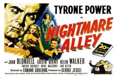 NIGHTMARE alley MOVIE poster tyrone POWER joan BLONDELL scary DEMONIC 24X36