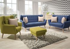 Der Trendhersteller New Look Möbel vereint in seinem Modell Henry gekonnt das klassische mit dem modernen #Möbeldesign. #MoebelLETZ Modern Living, New Look, Sofas, Furniture, Home Decor, Blue Furniture, Modern Home Design, Minimalist Design, Sofa Set