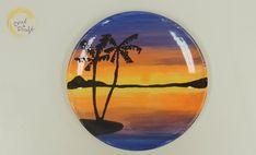 Crock A Doodle Pottery Painting Technique Ocean Sunset