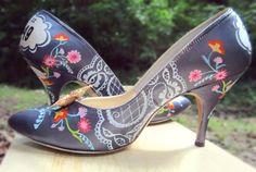 Woodland Hand Painted Wedding Shoes by LoveMirandaMarie on Etsy