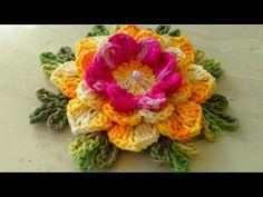 Vamos fazer a Flor de Crochê Para Aplicação em Tapetes e Diversos com Cristina Coelho Alves - YouTube