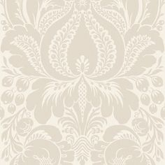 Allen + Roth Wallpaper | Allen + Roth Grey Large Scale Damask Wallpaper