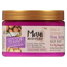 Maui Moisture Shea Butter Hair Mask 12 Ounce Jar (Heal/Hydrate) Pack) ** Check out this great product. (This is an affiliate link) Best Hair Care Products, Pure Products, Beauty Products, Big Chop Natural Hair, Yogurt Hair Mask, Maui Moisture, Pure Coconut Water, Macadamia Oil, Face Lotion