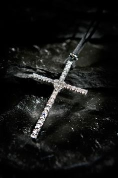 Diamond Encrusted Cross Pendant © David Cantwell Diamond Photography, Jewelry Photography, Cross Pendant, Diamond Jewelry, Skull, Image, Instagram, Diamonds, Wattpad