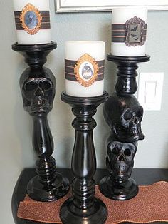 Halloween Skull Candle Holder Tutorial · Candle Making | CraftGossip.com