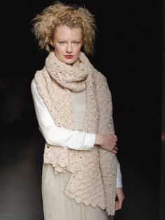 Shivery Wrap - Crochet this ladies accessory wrap from Rowan Knitting & Crochet Magazine 58, a design by Lisa Richardson using the beautiful yarn Cocoon (merino wool and kid mohair.)