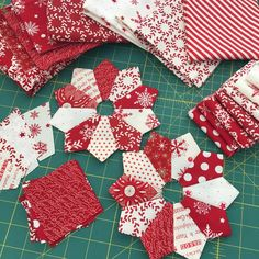 """190 Likes, 20 Comments - Margot Languedoc (@thepatternbasket) on Instagram: """"Red and White Sunnyside Up blocks! These little 6"""" blocks are made without a template just easy…"""""""