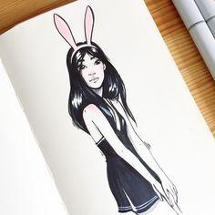 Happy Easter! Spring illustration on Artluxe Designs. #artluxedesigns