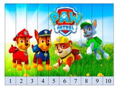 puzzle-de-numeros-patrulla-canina-con-superimagenes2 Autism Activities, Toddler Learning Activities, Games For Toddlers, Kids Learning, Numbers Preschool, Preschool Activities, Paw Patrol Birthday Girl, Dog Themed Parties, Kindergarten Math Worksheets
